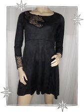 B - Magnifique Haut Tunique Noir Dentelle Mod. Wang Lauren Vidal Taille S - 38