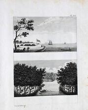 Suriname colonia Maroni galea insediamento Fort base vrydenbourg Guyana foresta