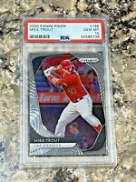 2020 Panini Prizm Mike Trout #196 Los Angeles Angels Baseball PSA 10 GEM MINT