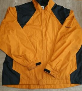 Foot Joy Dry Joys Golf Rain Jacket Mustard Yellow/Black Full Zip Mens XXL