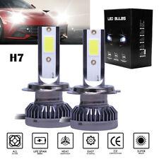 2x MINI H7 LED Headlight Bulbs Conversion Kit 100W 10000LM 6000K Hi/Lo Beam XUE