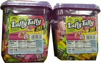 Lot of 2 Laffy Taffy Candy 145 Count Tubs 290 pieces total Stretchy and Tangy