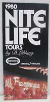 Vintage 1980 Nite Life Tours D Leblang Brochure Miami Florida Cruise Tour Boat