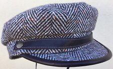 STETSON BILLY REID BENNINGTON HERRINGBONE L 59 UNISEX GREEK FISHERMAN'S CAP HAT