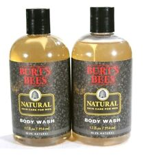 NEW 2 Pack Men's Burt's Bees Natural Skin Care Body Wash 12 oz ea 99.9% Natural
