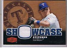 2006 FLAIR SHOWCASE STICHES JERSEY CARD HANK BLALOCK  RANGERS    BOX 80 !!