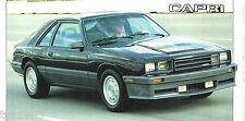 Mercury Capri 5.0 L Spec Sheet / Brochure / Catalog: 1986,
