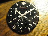 Movado Series 800 Swiss Multi Dial Watch Advertisement Pocket Lipstick Mirror