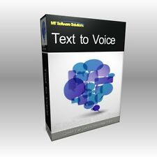 Text to Voice Speech Synthesizer Save to WAV App Application NEW Software