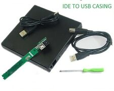 IDE TO USB 2.0 External Slim Laptop CD/DVD Drive Enclosure Case Caseing