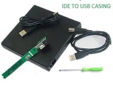 IDE TO USB 2.0 External Slim Laptop CD/DVD Drive Enclosure Case Caseing