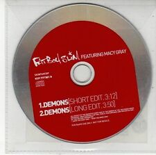 (DV390) Fat Boy Slim ft Macy Gray, Demons - 2001 DJ CD