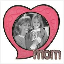 Pewter Mom Heart Shaped Photo Frame - Small Picture Mother's Day Gift Mothers