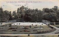 Mt Pleasant Michigan~Central State Normal School~Full Tennis Court~1909 Postcard