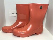 NEW WOMENS SIZE 11 VIBRANT CORAL UGG SIENNA 1014452 RAIN BOOTS RUBBER WATERPROOF