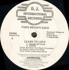 PARIS BRIGHTLEDGE - Learn To Love - D.J. International