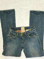 Marlow Women's Jeans Bootcut Light Wash Denim Light Destruction Size 28