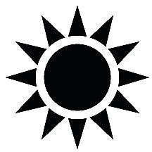 Sun Symbol Vinyl Cut Sticker (Various colors available)