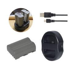 2x EN-EL3e Battery +Dual USB Charger for NIKON D70 D80 D90 D100 D200 D300 D300s