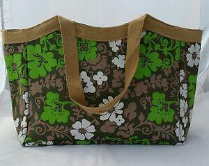 9 X Ladies Designer Shoulder Shopping Hand Bag Natural JUTE Beach Multi Purpose