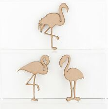 MDF Wooden Flamingo Craft Shapes Embellishments Decorations Blank 3mm Thick