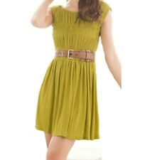 Sugar Size 12 Green Avocado Cap Sleeve Short Stretch Mini Sun Dress BNWT