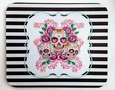 SUGAR SKULLS MOUSEPAD Personalized Black & White Stripes Great High Quality Gift