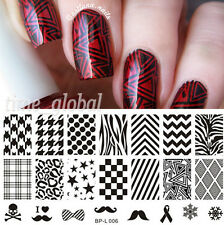 BORN PRETTY Nail Art Stamping Plate Selected Classic Images Stamp Template L006