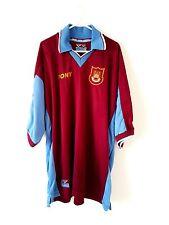 West Ham United Home Camisa 1997. XXL. Rojo Manga Corta Top fútbol UTD Adultos