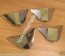4x CHROME FURNITURE FEET/LEGS FOR SOFAS CHAIRS SETTEE STOOLS PRE DRILLED