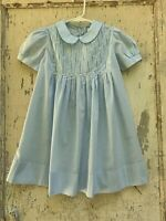 Strasburg Girls Dress Heirloom Collection Size 3 100% Cotton Light Blue