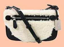 COACH 36490 RHYDER In Shearling/Leather Pochette CrossBody Bag MSRP $195