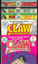 CLAW, THE UNCONQUERED 1,2,3,6,7  Great Shape!  1975-1976   MICHELINE!  CHUA!