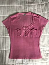 Womens Bay Pink Knitted Top Blouse Size 10