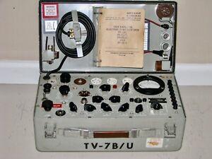 Military TV-7B/U Mutual Conductance Tube Tester - Calibrated