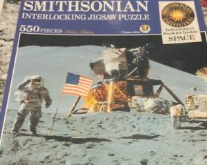 Space Apollo 15 Astronaut Rover Smithsonian 550 Jigsaw Puzzle & Booklet 1989 NEW