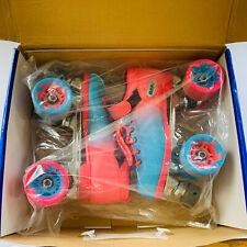 Riedell Dart Ombré Pink & Blue Size 4 Junior Quad Roller Speed Skates
