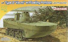 "Dragon 1/72 (20 MM) tipo 2 ""Ka-Mi"" tanque anfibio con pontón flotante (tarde)"