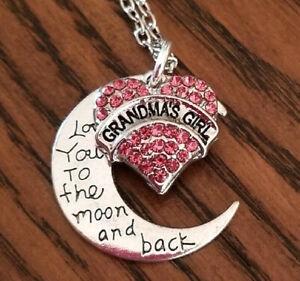 GRANDMA'S GIRL Necklace, Granddaughter Jewelry, Granddaughter Gift, Christmas