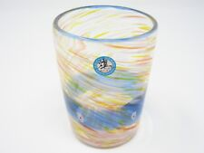 Blue Ocean-flower-garden Ryukyu Glass (Handmade in Okinawa)