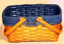 Longaberger Cake Basket FABRIC LINER ONLY - DENIM - New in Bag  - Orig $32  CUTE