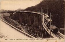 CPA Menton Ligne du Tram - Viaduc du Caramel (617053)