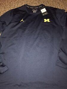 Michigan Wolverines Jordan Brand 2020 Player Performance Long Sleeve Shirt XXL