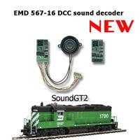 HO drop in EMD567 DIESEL SOUND DECODER w//speaker for  Atlas//Athearn