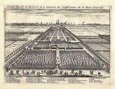 Antique engraving, Maison Royal de Ryswyk ou se tiennent les Conferences de la P