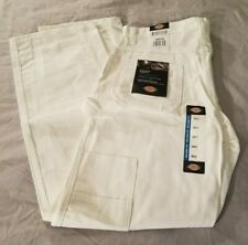 Mens White Dickies Utility Pants Relaxed Fit 30x32