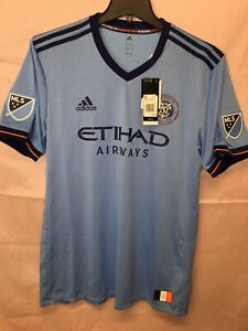 ADIDAS NEW YORK CITY FC HOME AUTHENTIC SOCCER JERSEY SIZE XL