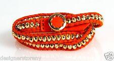 House of Harlow 1960 Nicole Richie Karma Wrap Bracelet Coral/Gold