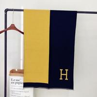 Womens Luxury Winter Wool Blend Soft Warm H-Scarf Long Wrap Shawl 180*70cm DY