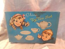 Vintage China Toy Tea Set Service for 4 Children's Japan